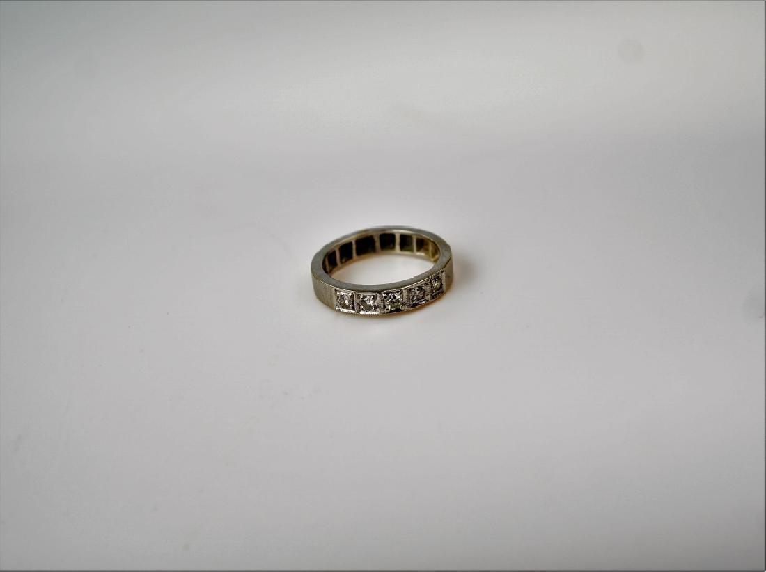 14K WHITE GOLD & DIAMOND DECO RING