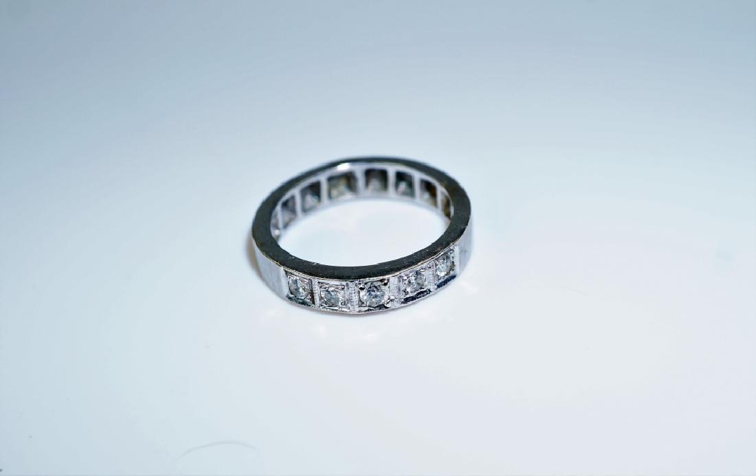 14K WHITE GOLD & DIAMOND DECO RING - 3