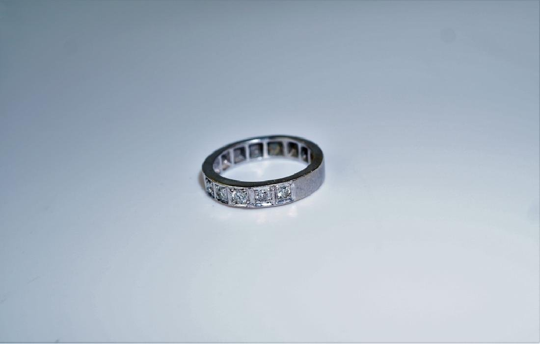 14K WHITE GOLD & DIAMOND DECO RING - 4