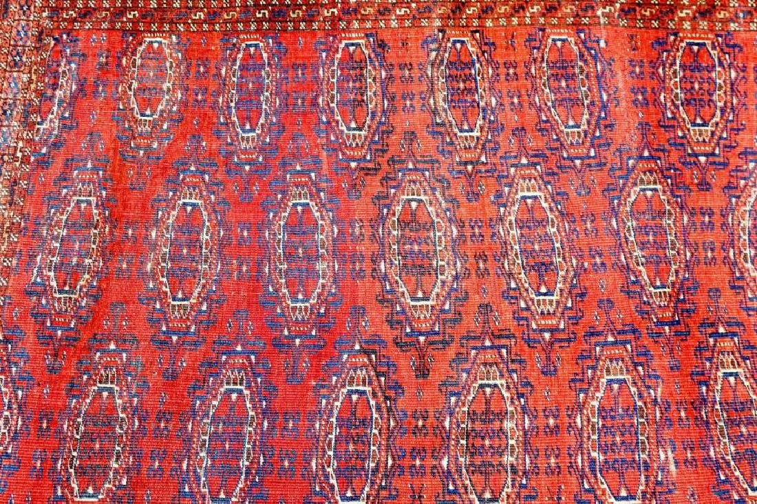 SEMI ANTIQUE PERSIAN TURKOMAN THROW RUG - 4