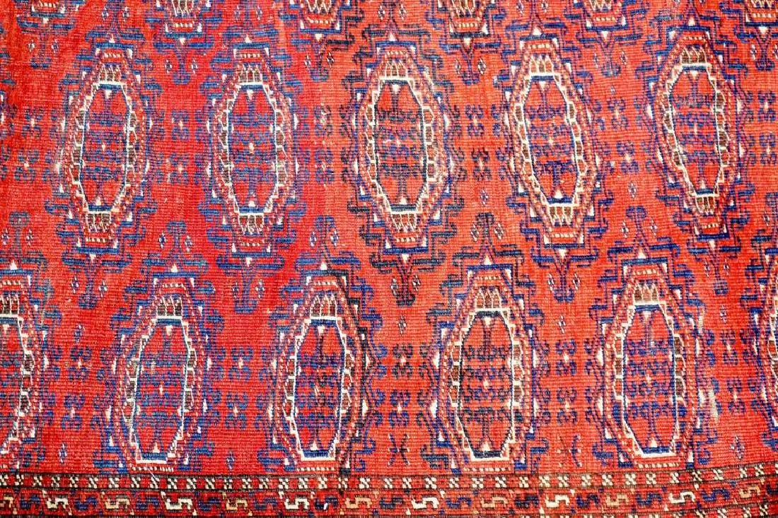 SEMI ANTIQUE PERSIAN TURKOMAN THROW RUG - 5