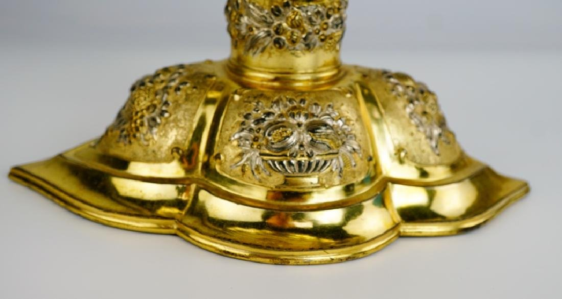 GERMAN SILVER SHELL COMPOTE - 3