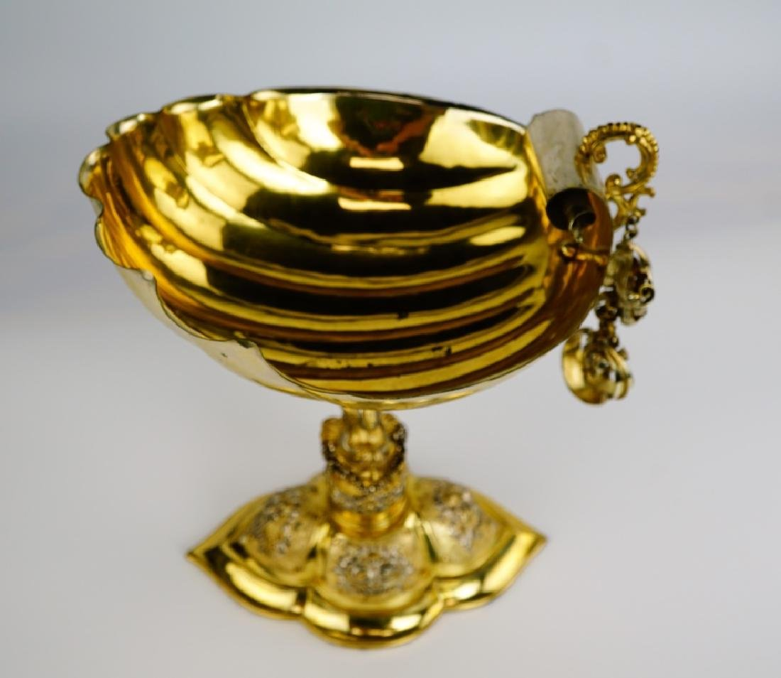 GERMAN SILVER SHELL COMPOTE - 4