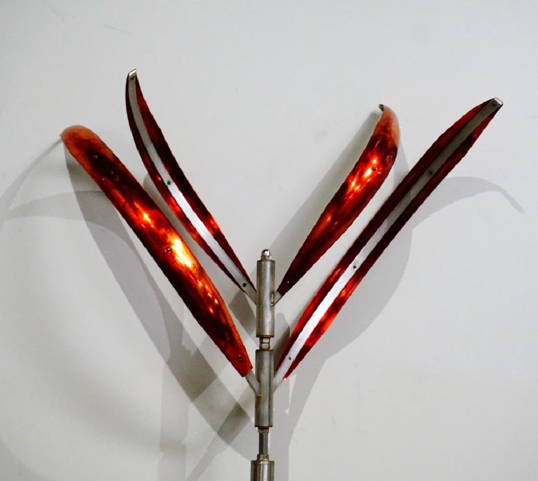 MARK WHITE WIND SCULPTURE BLOOMING LILY #2 - 6