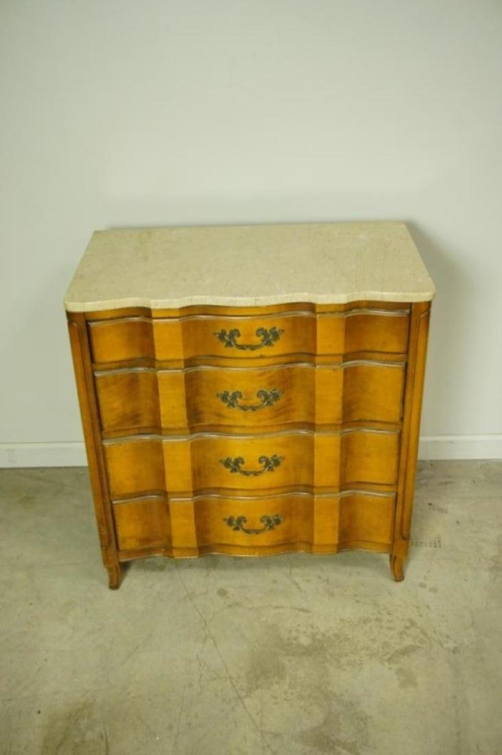 FRENCH PROUINCIAL 4 DRAWER LOW CHEST - 2