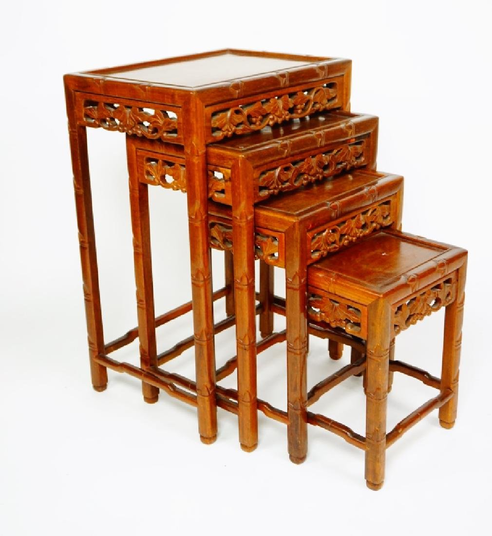 SET OF 4 ROSEWOOD NESTING TABLES - 5