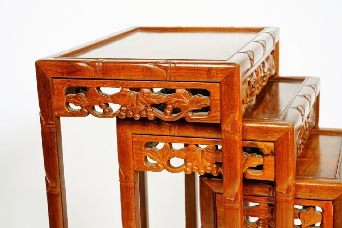 SET OF 4 ROSEWOOD NESTING TABLES - 6