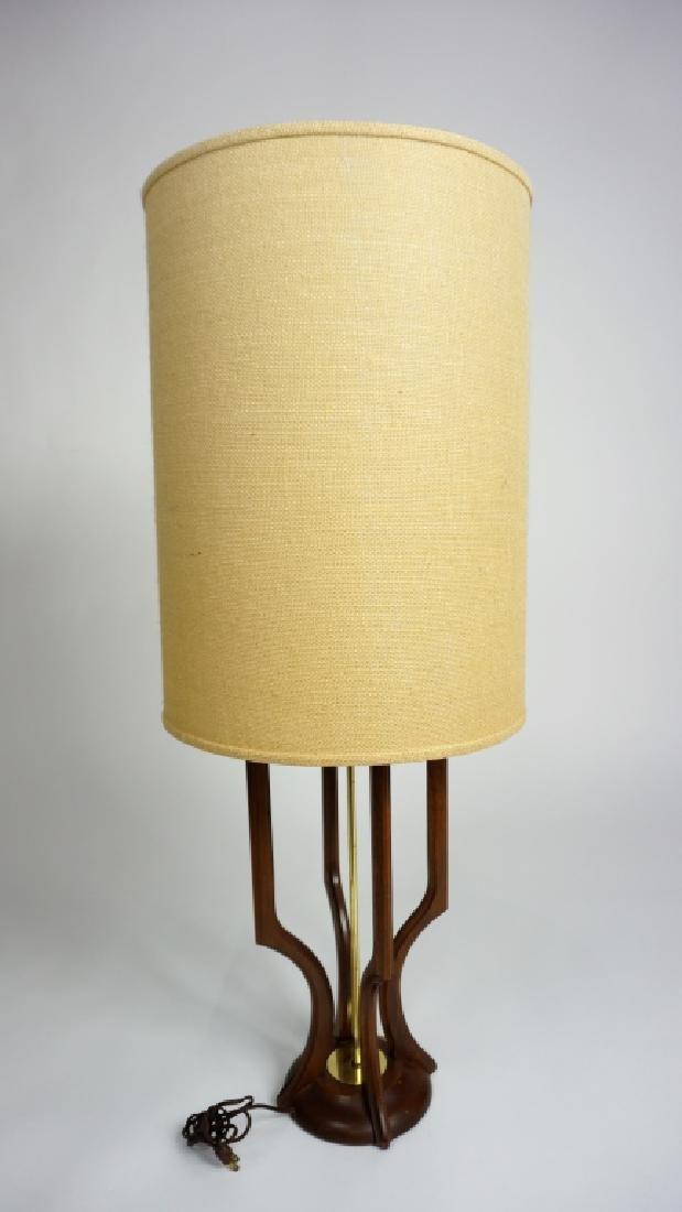MID-CENTURY MODERN ADRIAN PEARSALL TEAKWOOD LAMP - 2