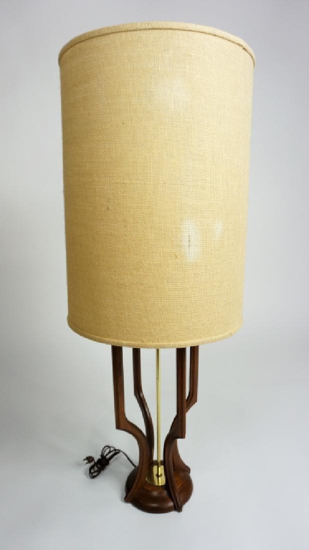 MID-CENTURY MODERN ADRIAN PEARSALL TEAKWOOD LAMP - 4