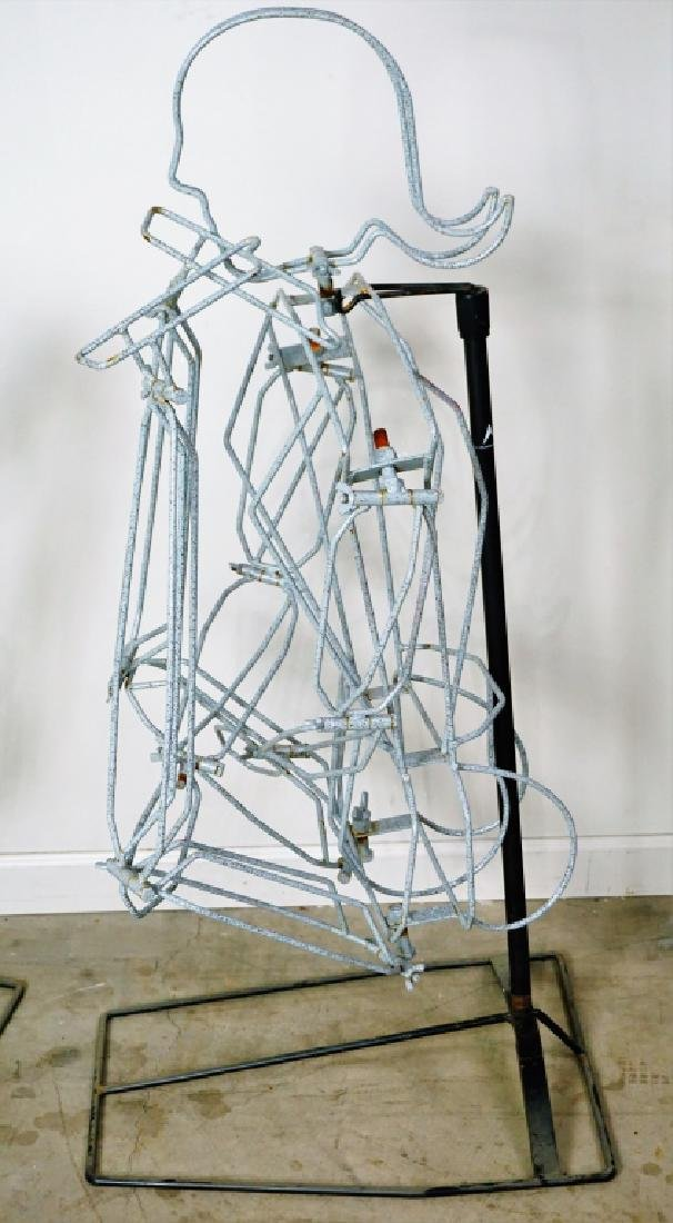 (2) FREE FORM WIRE MANNEQUINS ON STANDS - 6