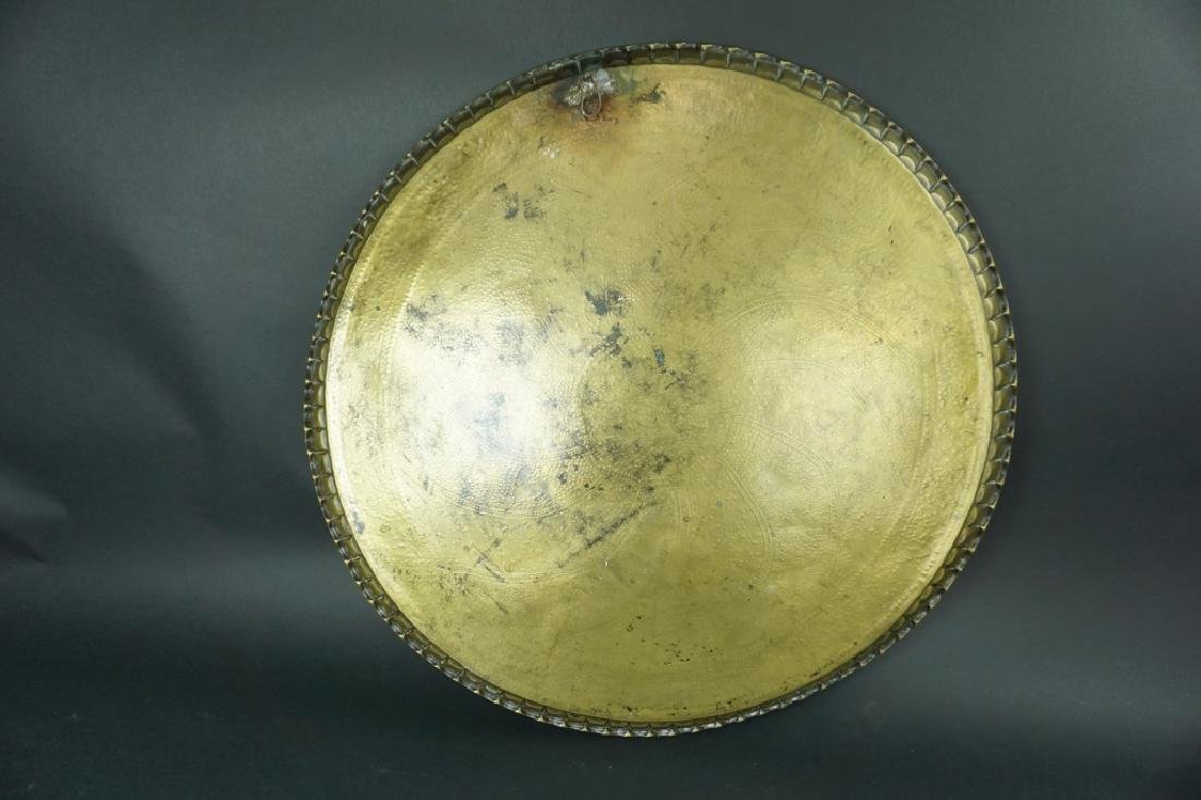 ANTIQUE MIDDLE EASTERN BRASS TRAY - 5