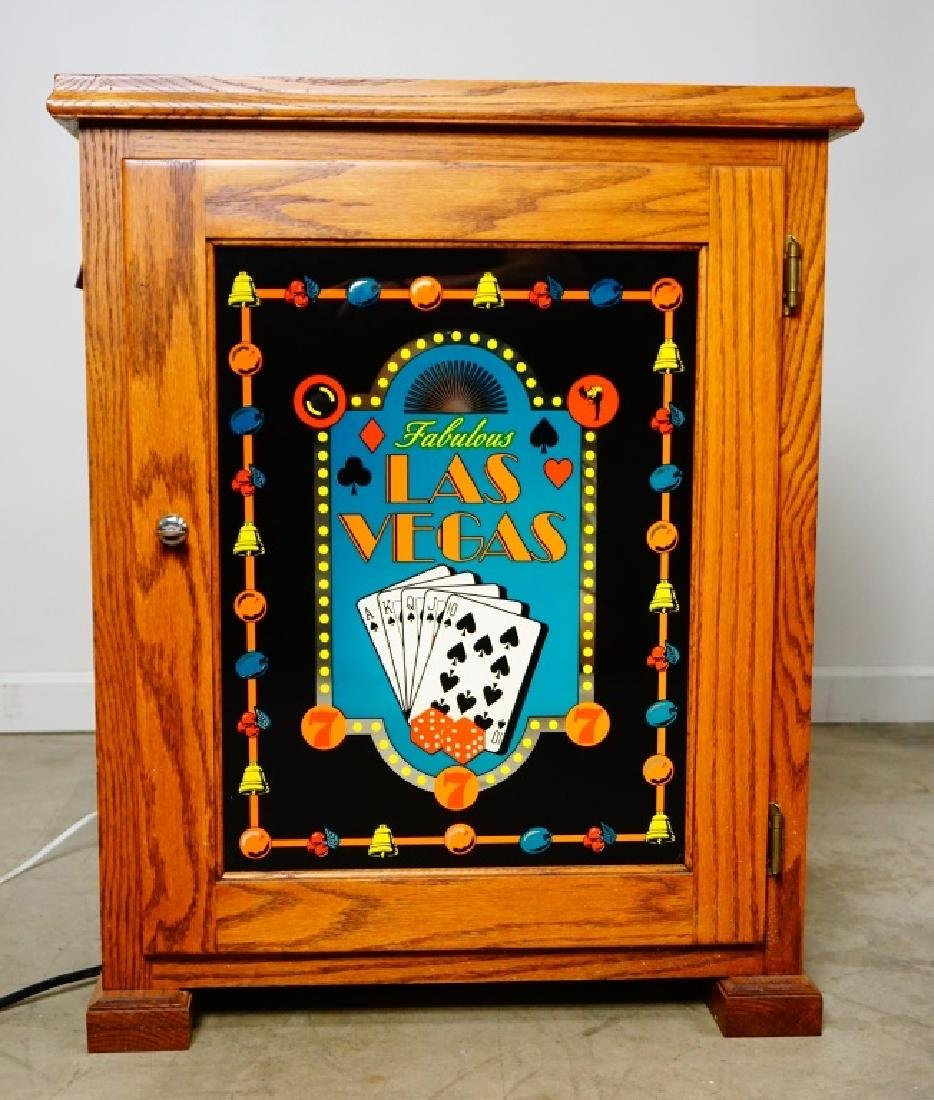 OAK BASE CABINET FOR SLOT MACHINE