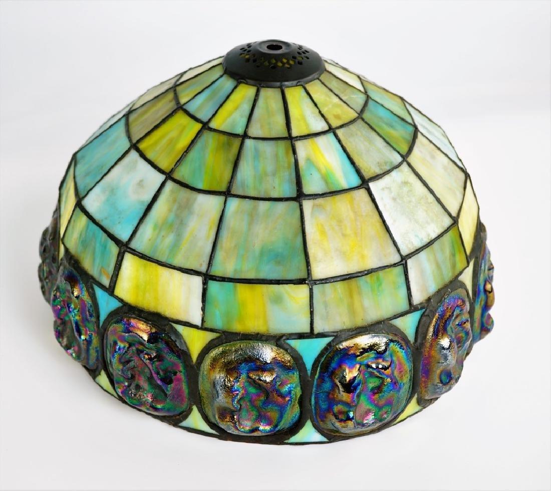 TURTLEBACK STYLE LEADED GLASS SHADE