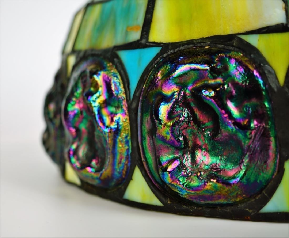 TURTLEBACK STYLE LEADED GLASS SHADE - 6