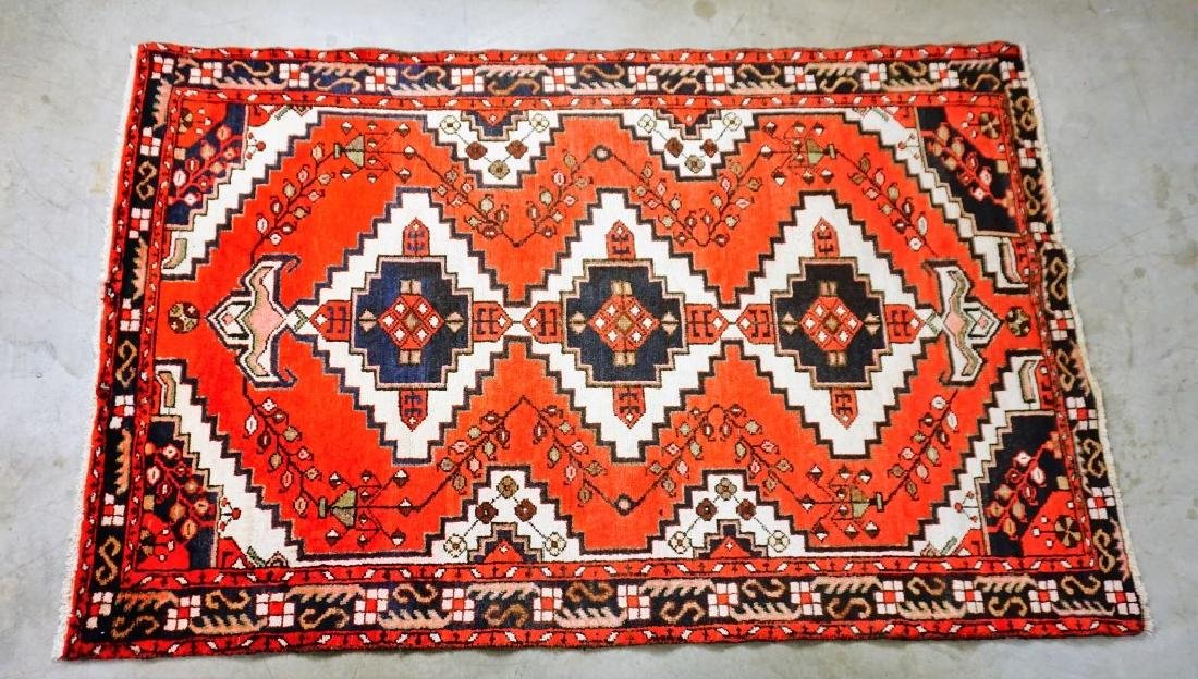 SEMI ANTIQUE PERSIAN HAMEDAN THROW RUG