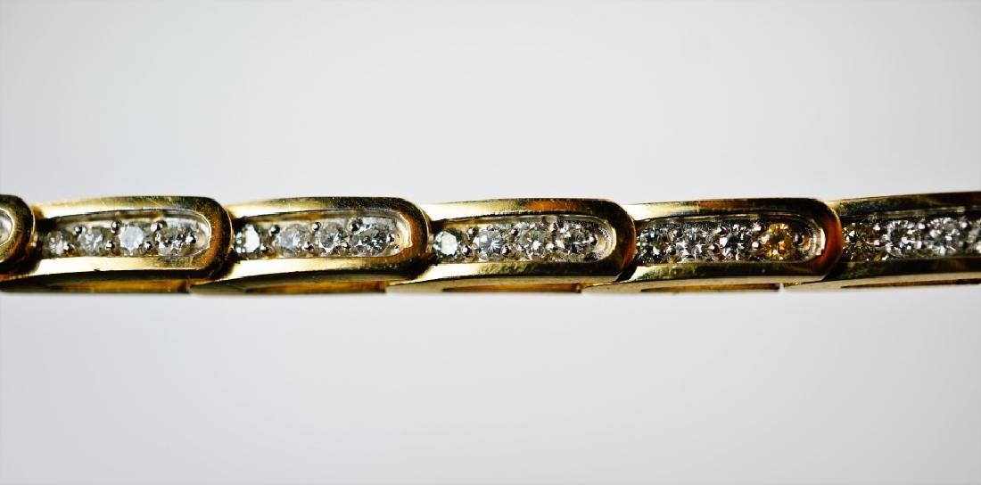 14K YELLOW GOLD & DIAMOND FASHION BRACELET
