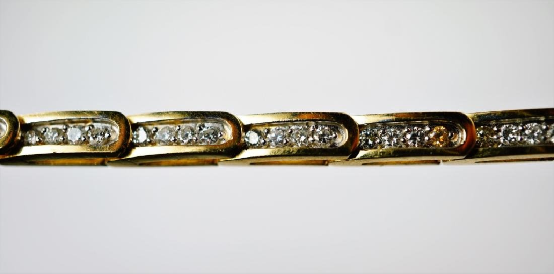 14K YELLOW GOLD & DIAMOND FASHION BRACELET