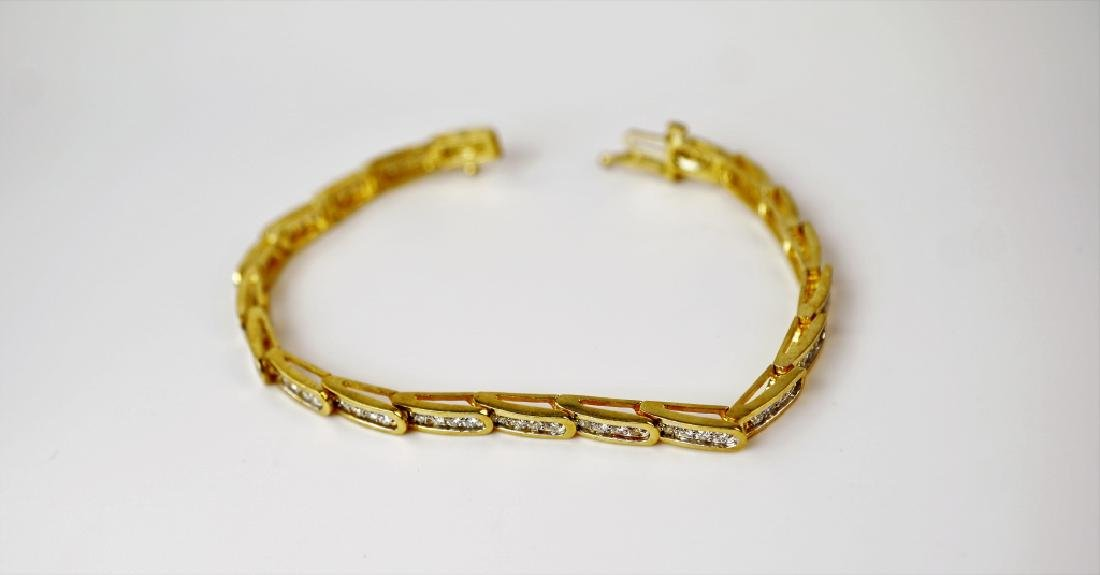14K YELLOW GOLD & DIAMOND FASHION BRACELET - 2