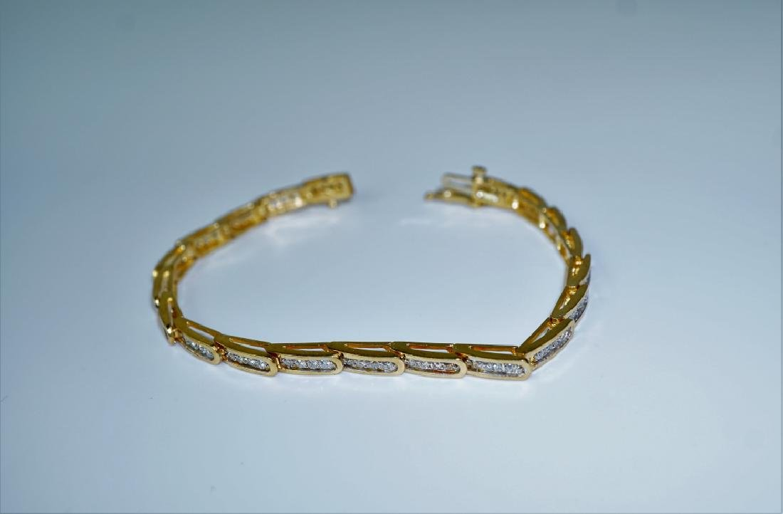 14K YELLOW GOLD & DIAMOND FASHION BRACELET - 4