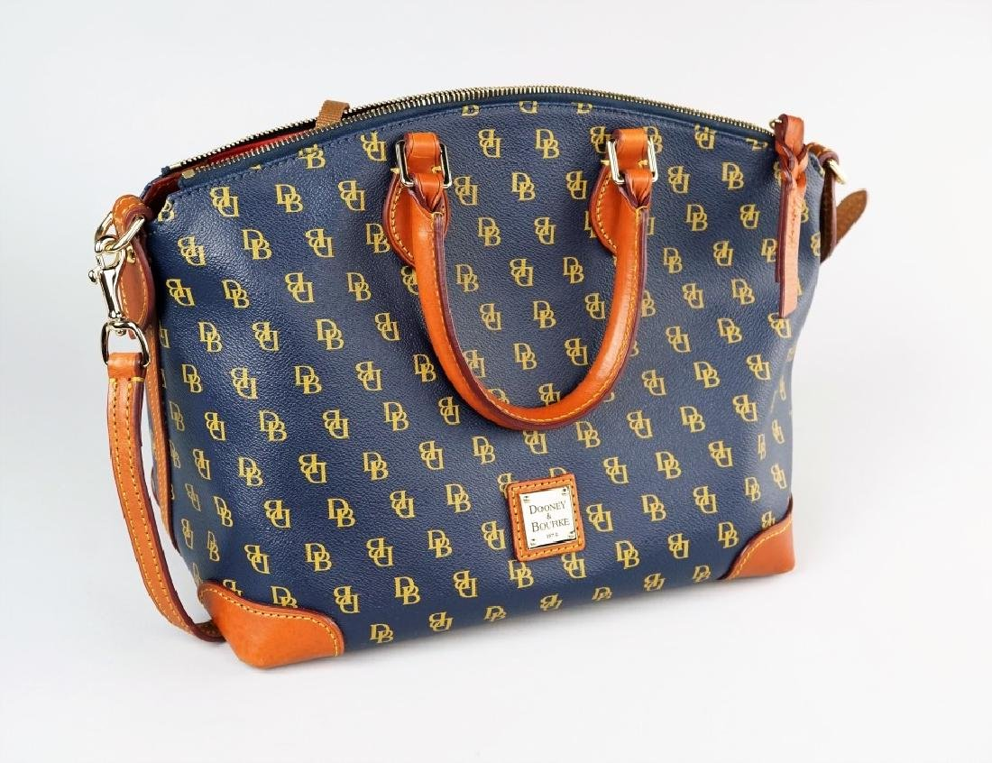 NAVY BLUE DOONEY & BOURKE HANDBAG