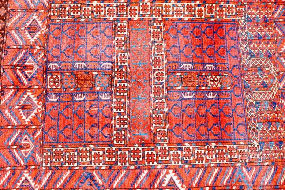 ANTIUQE RUSSIAN ALL WOOL THROW RUG - 3
