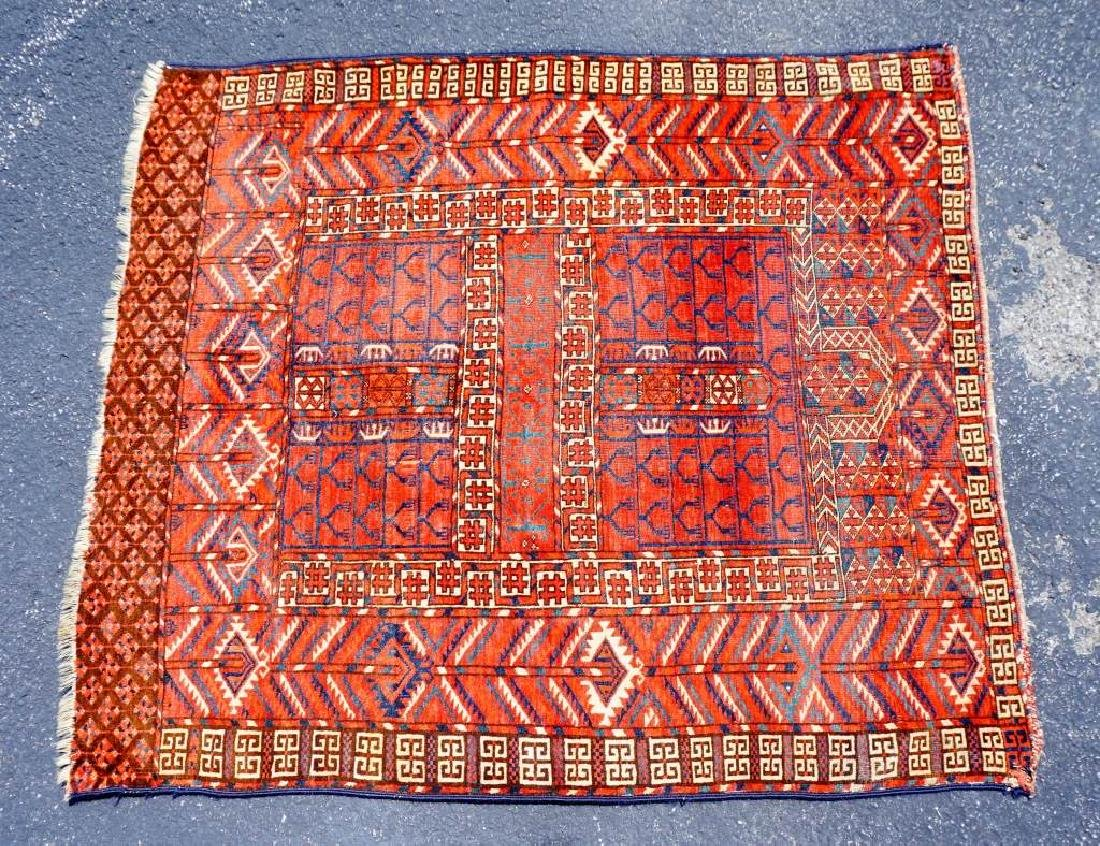 ANTIUQE RUSSIAN ALL WOOL THROW RUG - 7