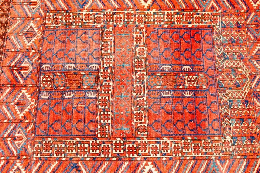 ANTIUQE RUSSIAN ALL WOOL THROW RUG - 8