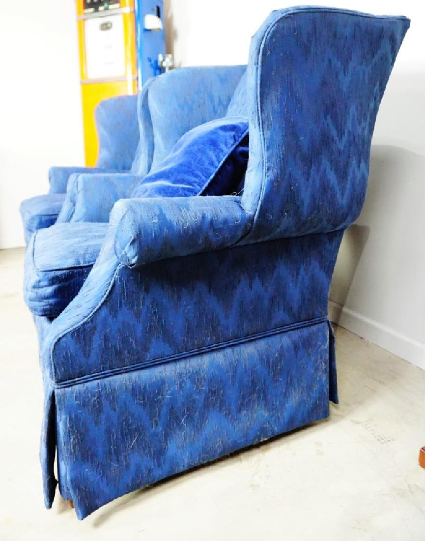 PAIR HIGH BACK WING CHAIRS - 8