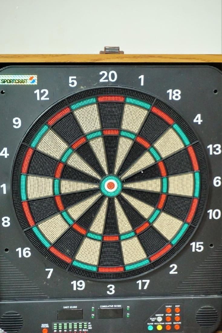 ELECTRIC DART BOARD IN FITTED WALL CABINET - 2