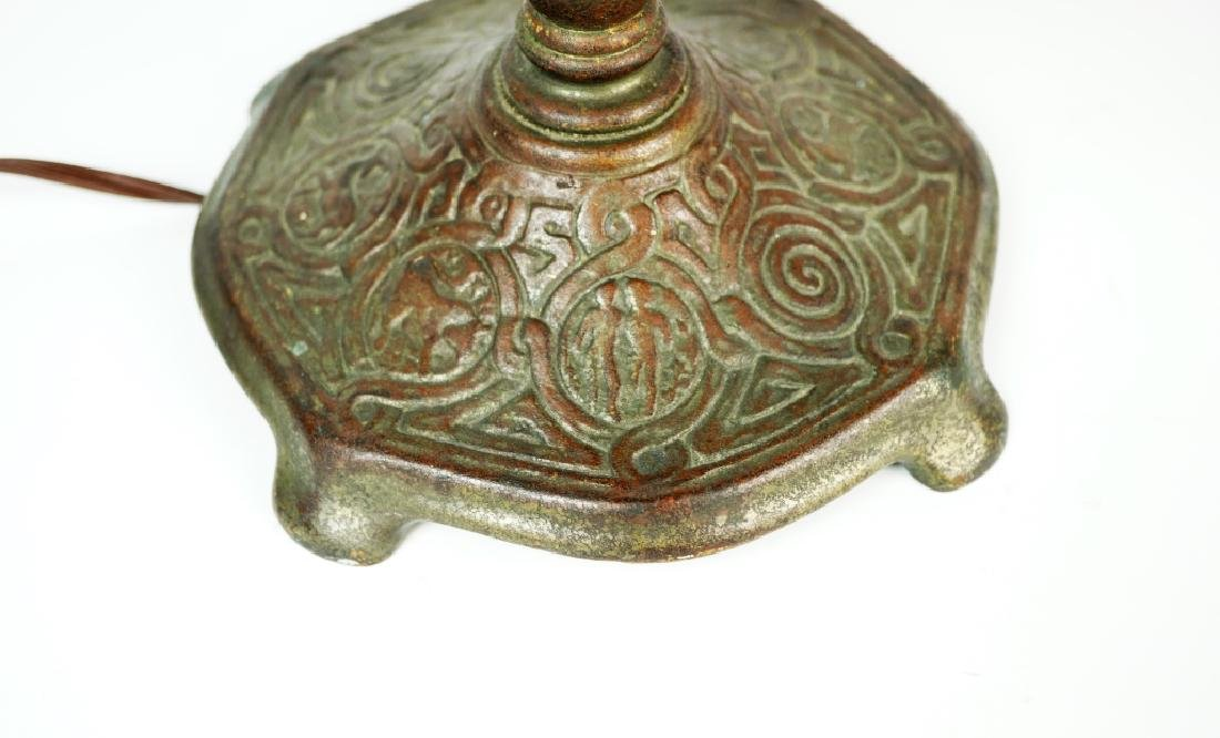 ANTIQUE TIFFANY STUDIOS BRONZE ZODIAC DESK LAMP - 3