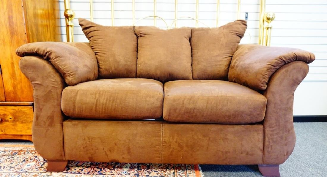 AFFORDABLE SENSATIONS BROWN LOVE SEAT
