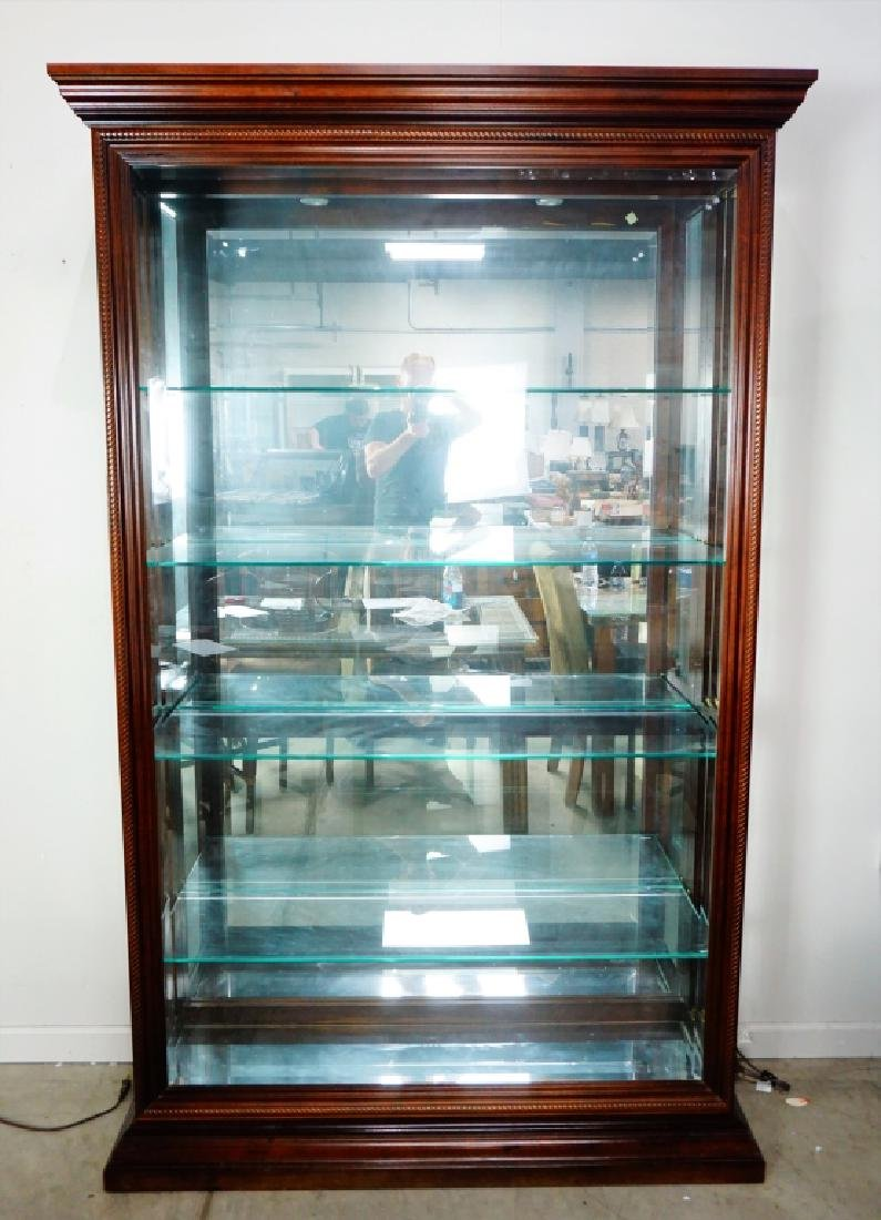 CHERRY SIDE ENTRY DISPLAY CABINET