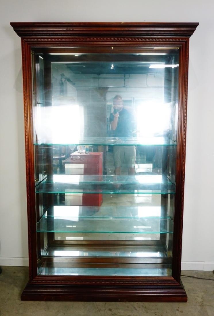 CHERRY SIDE ENTRY DISPLAY CABINET - 8