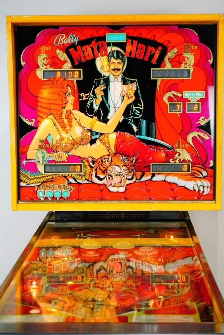 BALLY MATA HARI PINBALL MACHINE (1978) - 2