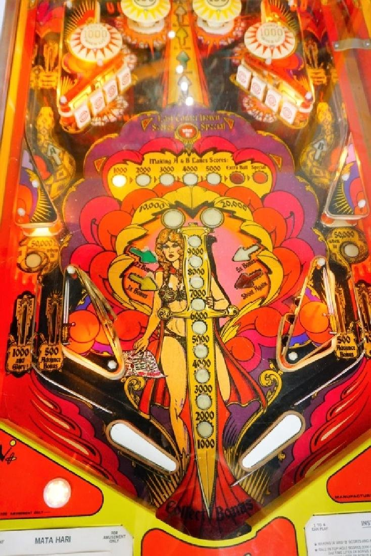 BALLY MATA HARI PINBALL MACHINE (1978) - 6