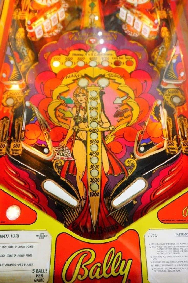 BALLY MATA HARI PINBALL MACHINE (1978) - 7