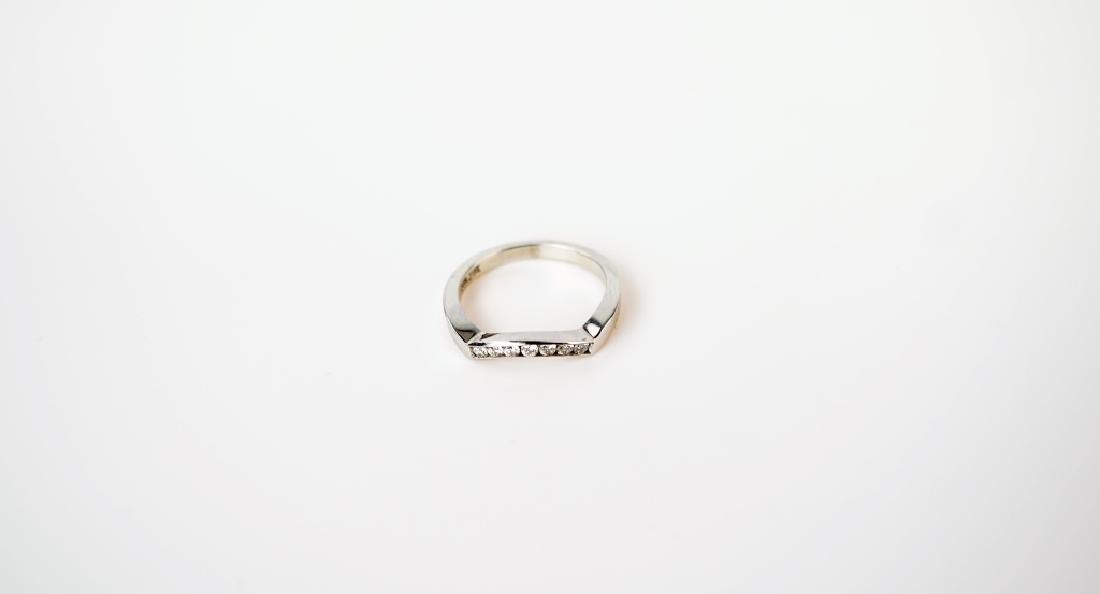 14K WHITE GOLD & DIAMOND FASHION RING