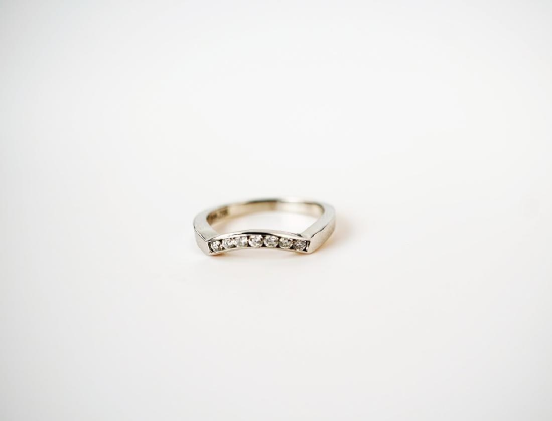14K WHITE GOLD & DIAMOND FASHION RING - 3