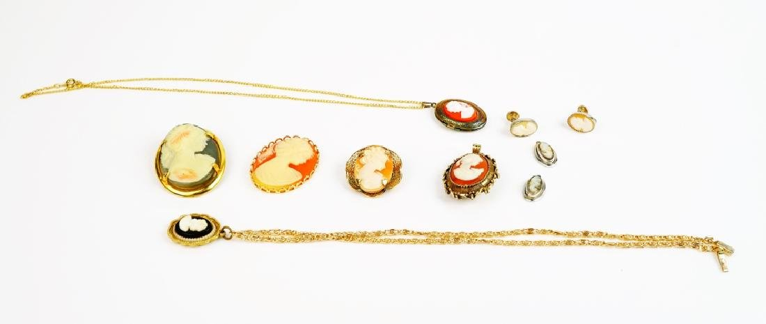 9pcs ASSORTED CAMEO JEWELRY - 3