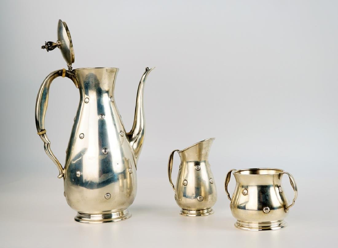 "3pc REED & BARTON ""FAR EAST"" STERLING COFFEE SET"