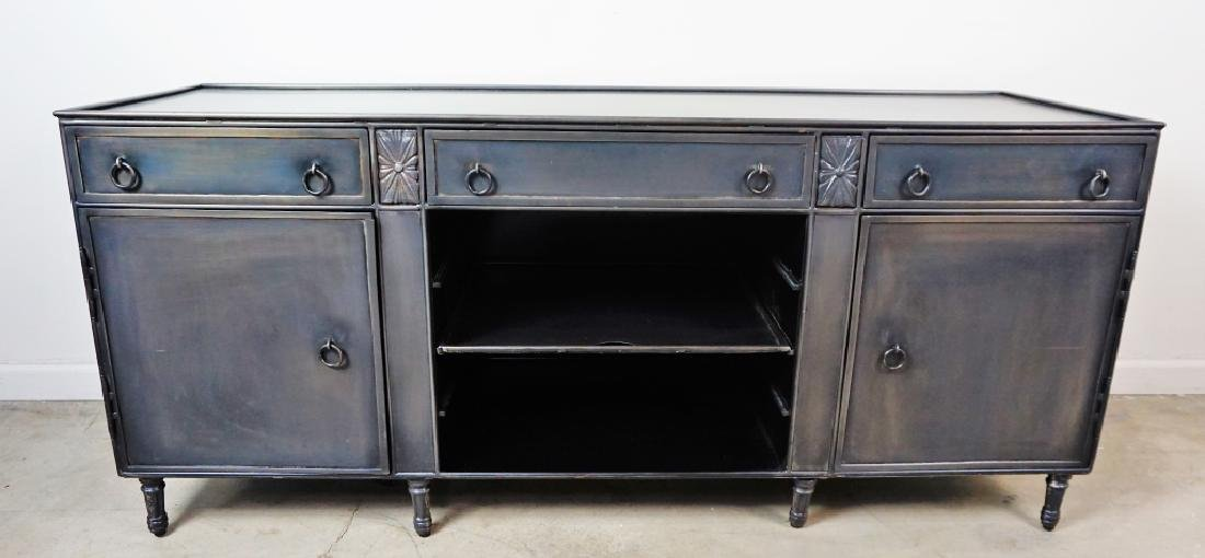 STEEL FLAT TV STAND/ENTERTAINMENT CENTER