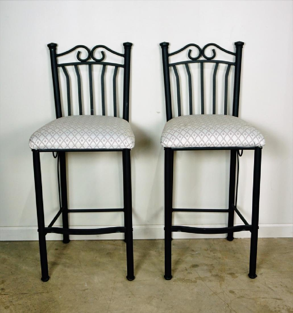 (2) CONTEPORARY METAL BAR STOOLS