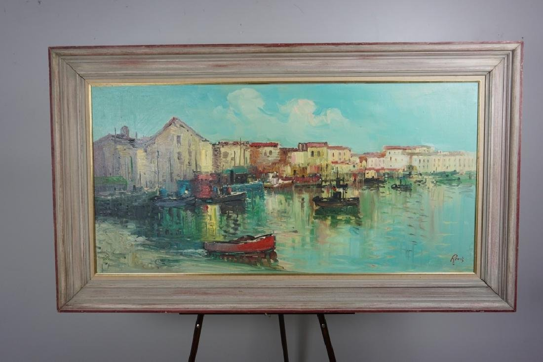 OIL ON CANVAS OF PORTOFINO ITALY