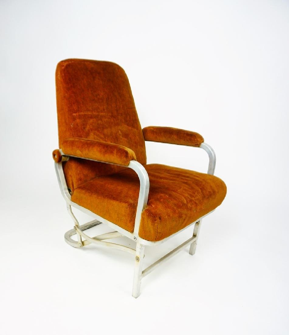 MID CENTURY COLLAPSABLE ARM CHAIR