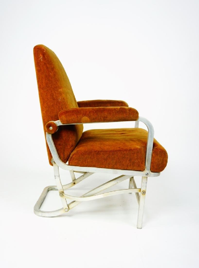 MID CENTURY COLLAPSABLE ARM CHAIR - 5