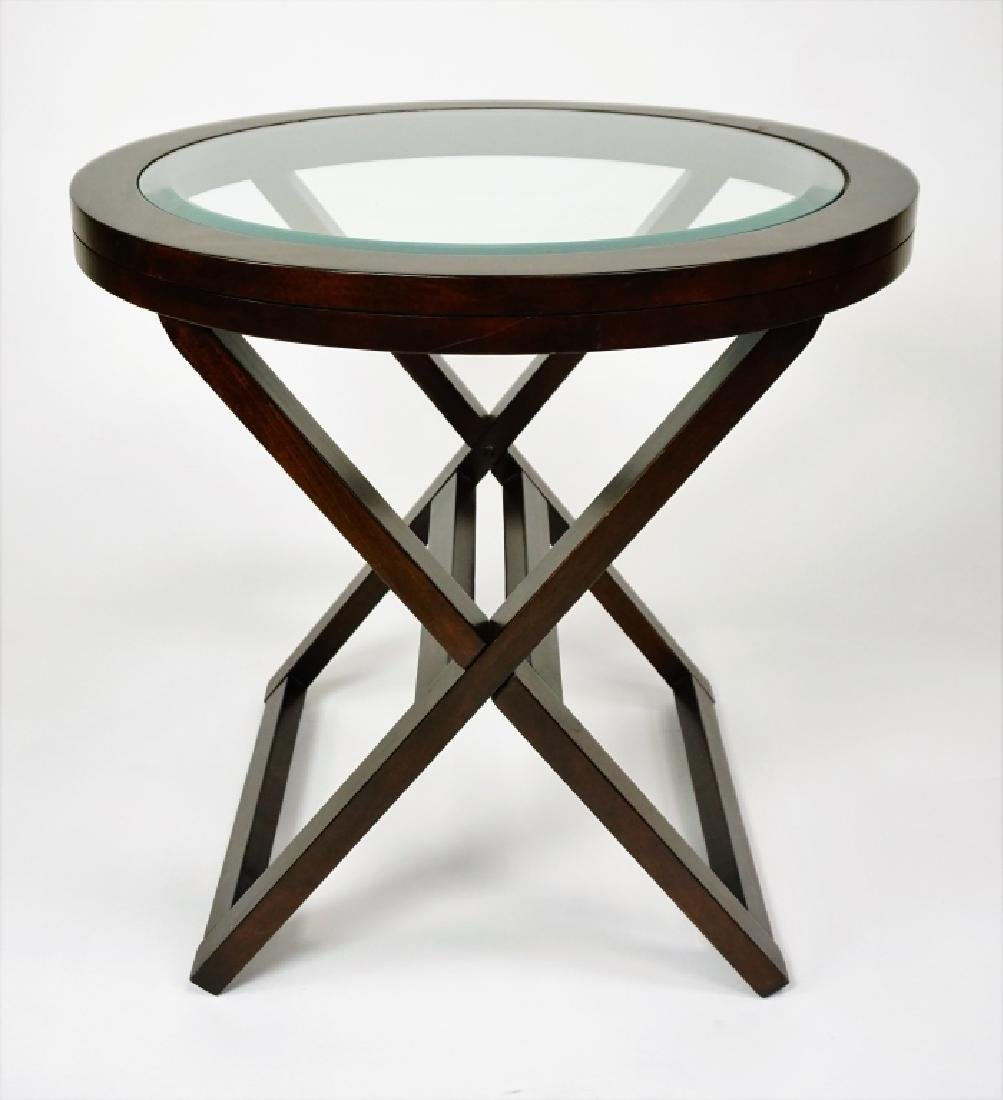 (2) ROUND GLASSTOP TABLES - 4