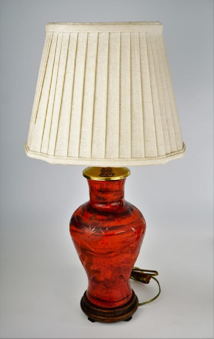 (2) PORCELAIN VASE LAMPS - 4