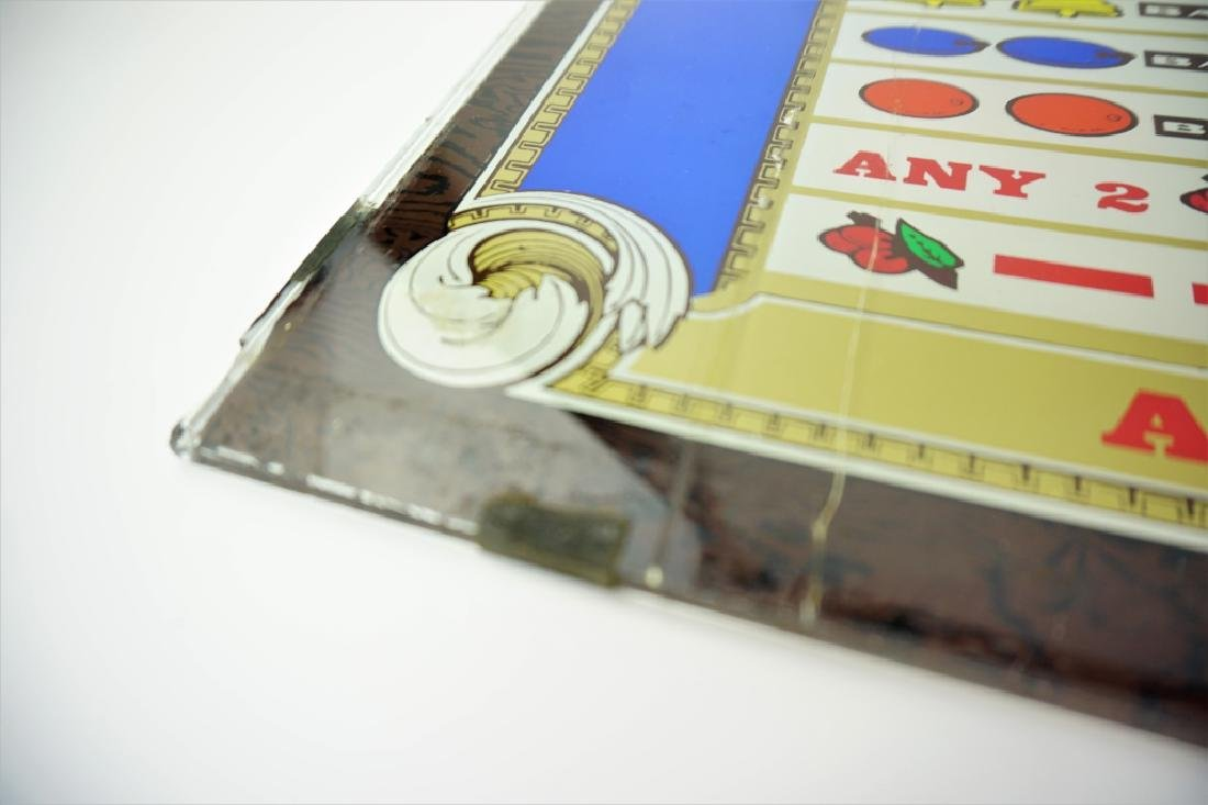 VINTAGE SLOT MACHINE GLASS $1 PLAY - 2