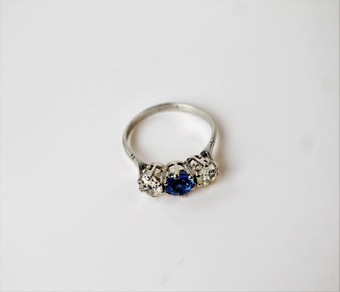 PLATINUM DIAMOND & SAPPHIRE FASHION RING