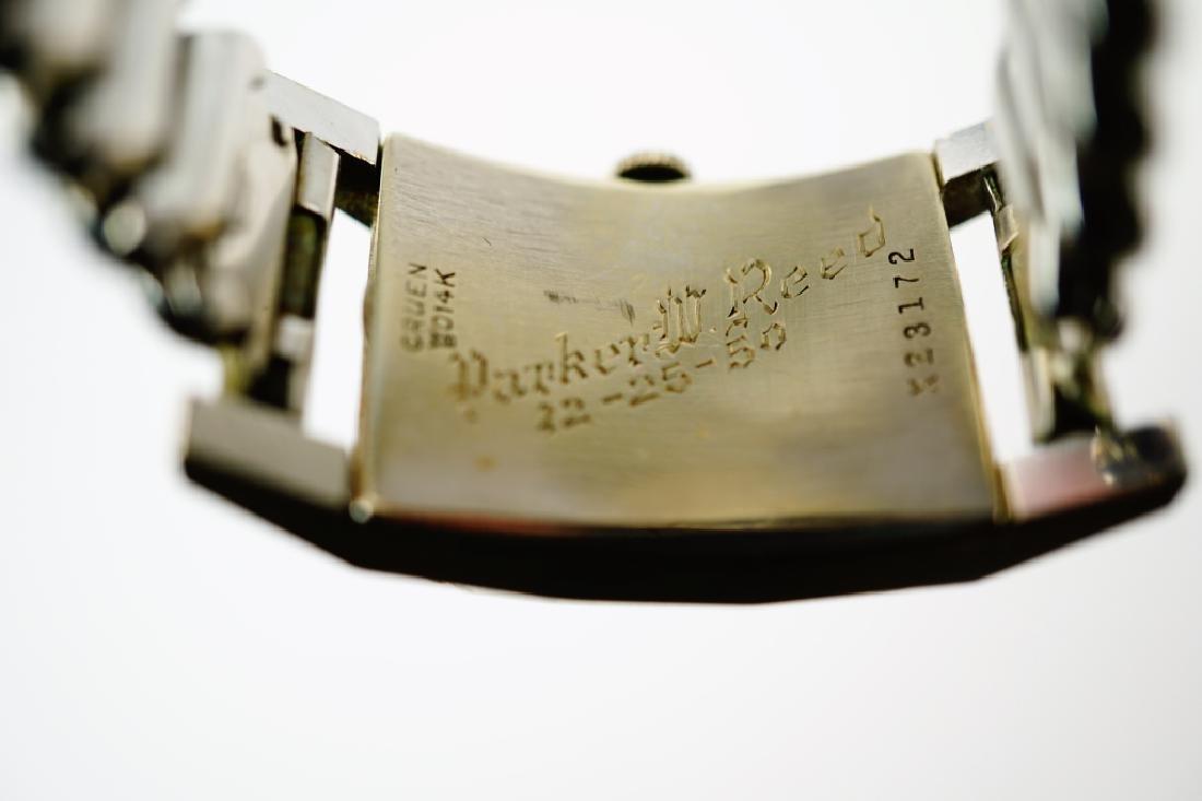 GRUEN CURVEX PRECISION 14K GOLD LADIES WRIST WATCH - 7